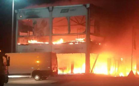 Incendio MotoE a Jerez