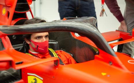 Sainz jr sulla Ferrari